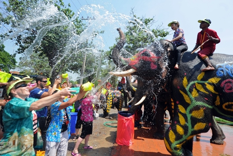 泰国泼水节-水果宴