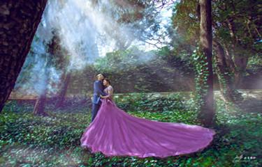 我美美的婚纱照出炉了